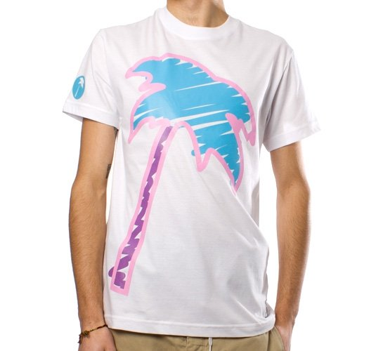 Trainerspotter Scribble Palm T-Shirt (White)