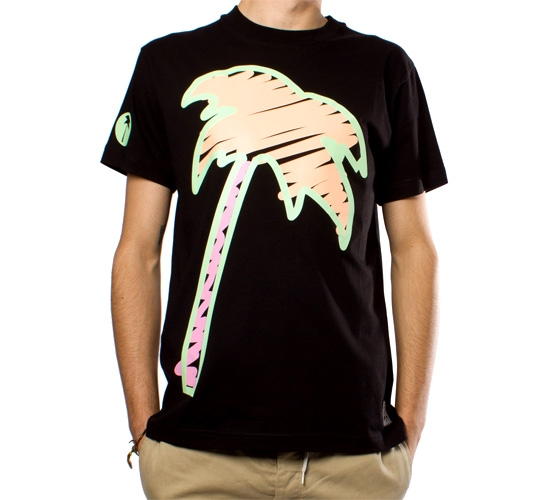Trainerspotter Scribble Palm T-Shirt (Black)