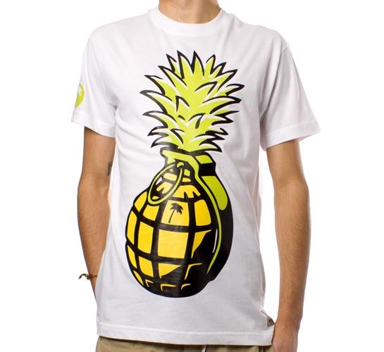 Trainerspotter Pineapple Grenade T-Shirt (White)