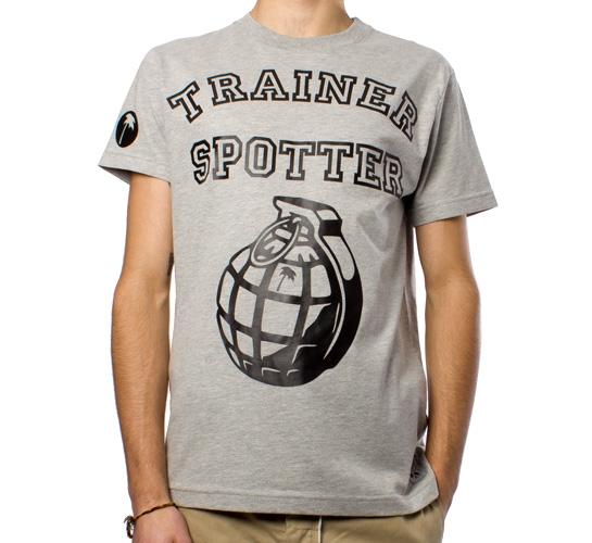 Trainerspotter College Grenade T-Shirt (Grey Marle/Black)
