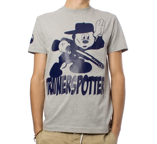 Trainerspotter Shotgun Mortimer T-Shirt (Grey Marle)