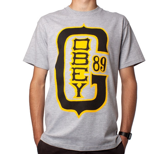 Obey Baseball Classic T-Shirt (Heather Grey)