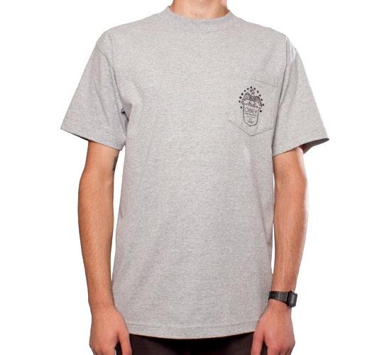 Obey Eagle Stamp Pocket T-Shirt (Heather Grey)