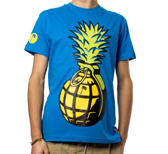 Trainerspotter Pineapple Grenade T-Shirt (Blue)