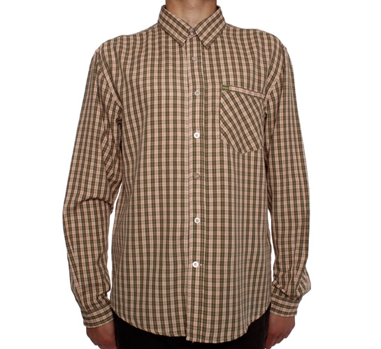 Enjoi Stress2Impress L/S Plaid Woven Shirt (Olive)