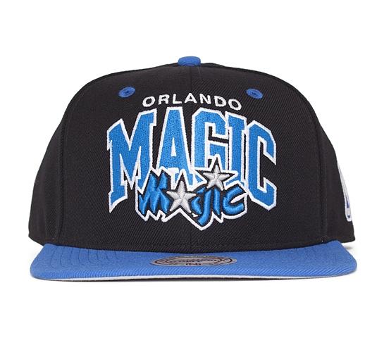 Mitchell & Ness Orlando Magic Team Arch Snapback Cap (Black/Blue)
