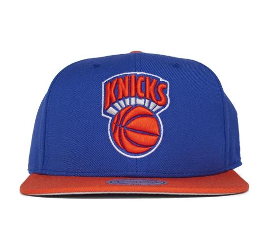 Mitchell & Ness New York Knicks 2 Tone Snapback Cap (Navy/Orange)