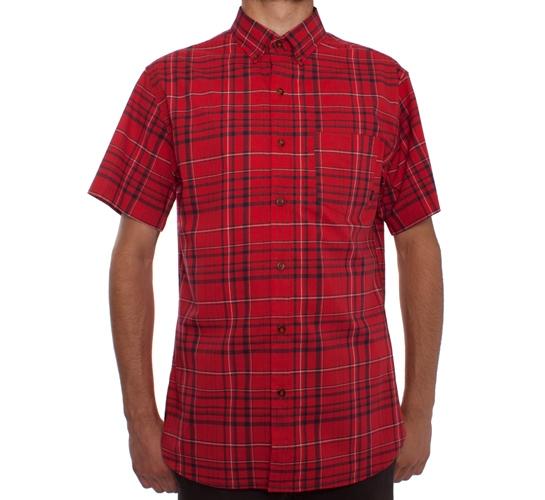 Nike SB Classic Plaid S/S Woven Shirt (Varsity Red)
