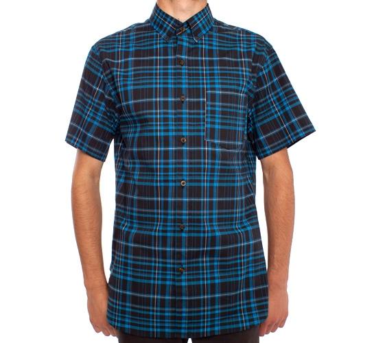 Nike SB Classic Plaid S/S Woven Shirt (Black)