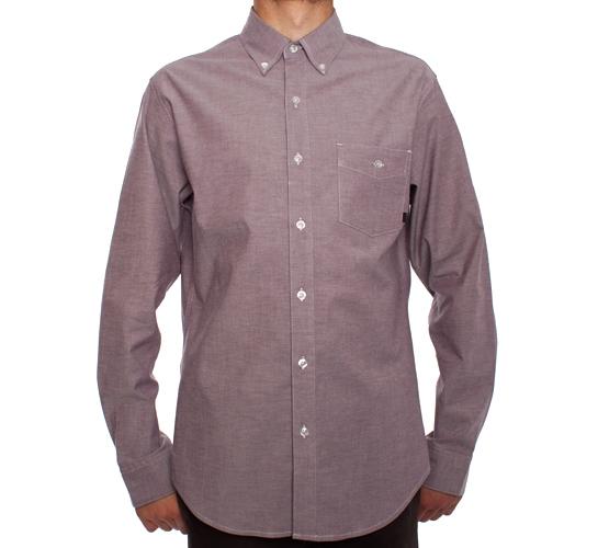 Nike SB Chambray L/S Woven Shirt (Deep Burgundy/Obsidian)