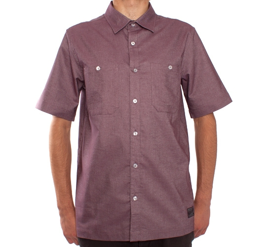 Nike SB Workmen S/S Woven Shirt (Deep Burgundy)