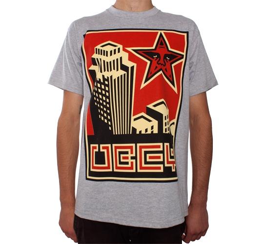 Obey Skyline T-Shirt (Heather Grey)