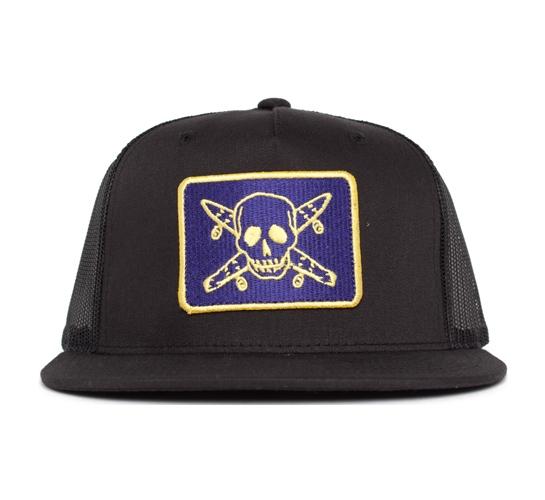 Fourstar Pirate Mesh Snapback (Black/Purple/Gold)