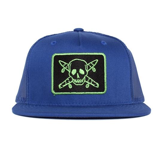 Fourstar Pirate Mesh Snapback (Royal/Black/Kelly)