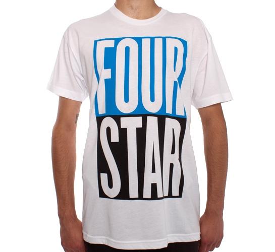 Fourstar Stacked Premium T-Shirt (White)
