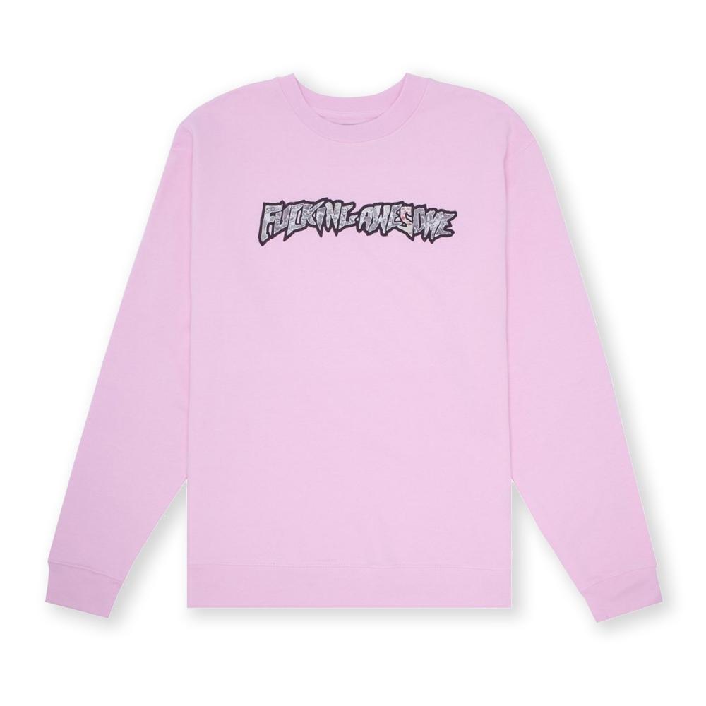 Fucking Awesome Actual Visual Guidance Crew Neck Sweatshirt (Pink)