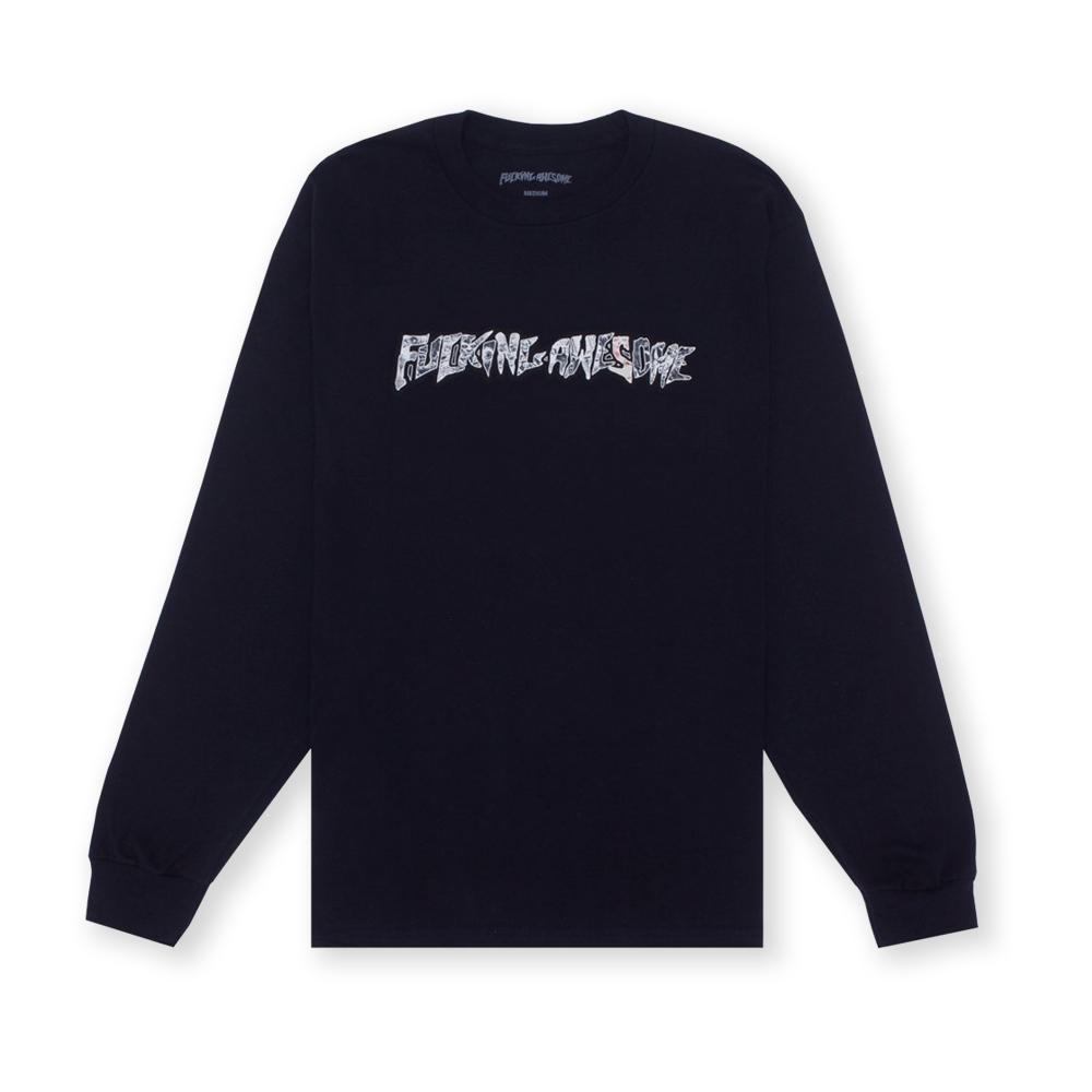 Fucking Awesome Actual Visual Guidance Long Sleeve T-Shirt (Black)