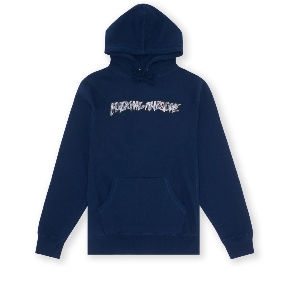 Fucking Awesome Actual Visual Guidance Pullover Hooded Sweatshirt (Navy)