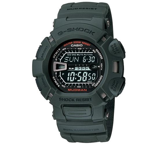 G-Shock G-9000-3VER Mudman (Army Green)