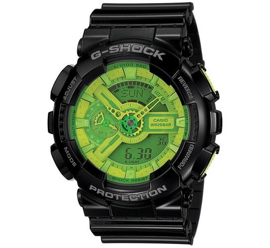 G-Shock GA-110B-1A3ER (Black/Green)