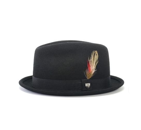 Brixton Hat - Gain (Black Crushable Felt)