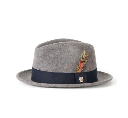 Brixton Hat - Gain (Mixed Grey Crushable Felt)
