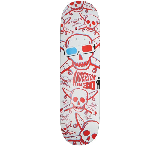 "Girl Skateboard Deck - 8.5"" Anderson (3D Pirate)"