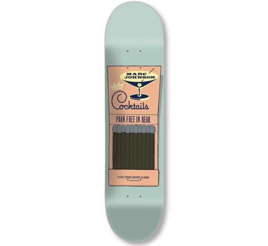 """Chocolate Skateboard Deck - 8"""" Johnson (Matchbook Series)"""