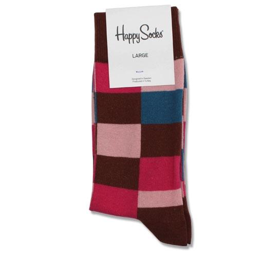 Happy Socks - Squares Men's Socks (Brown)