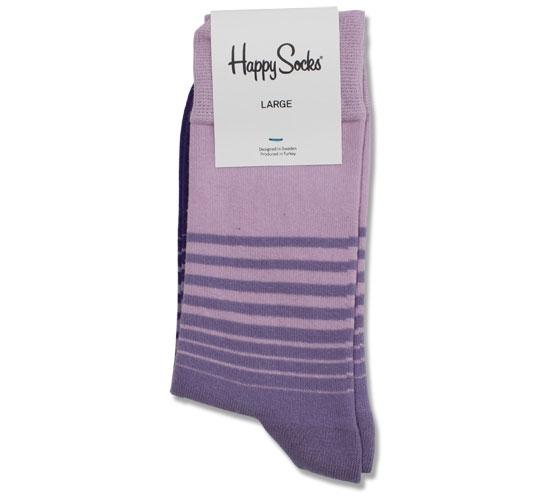 Happy Socks - Fade Stripe Men's Socks (Purple)