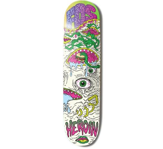 "Heroin Skateboards Deck - 8.4 Fos (Toxic Mutation)"""