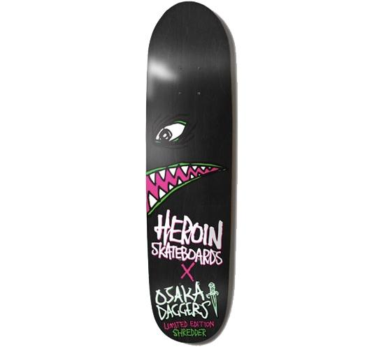 """Heroin Skateboards Deck - 8.1 Shredder (Daggers)"""""""
