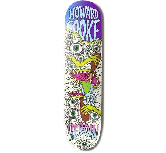 "Heroin Skateboards Deck - 8 Howard (Toxic Mutation)"""