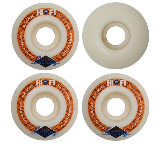 Hi-Fi Skateboard Wheels - 52.5mm Brady (White)