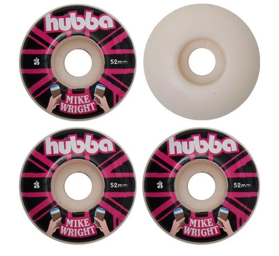 Hubba Skateboard Wheels - 52mm Mike Wright (White)