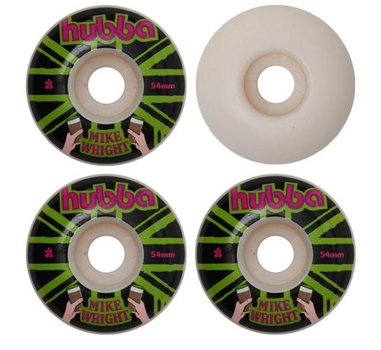 Hubba Skateboard Wheels - 54mm Mike Wright (White)