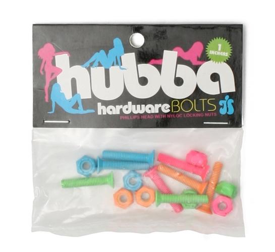 """Hubba Skateboard Bolts - 1"""" Phillips (Multi)"""