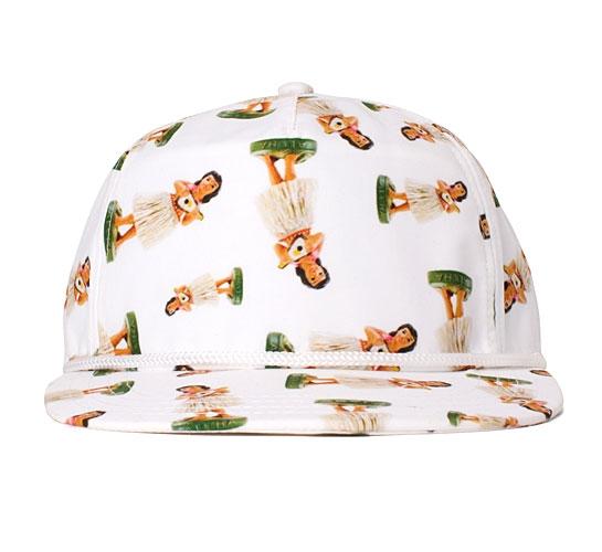 Vans Hula Snapback Cap (Tropical Hula Girl Print)