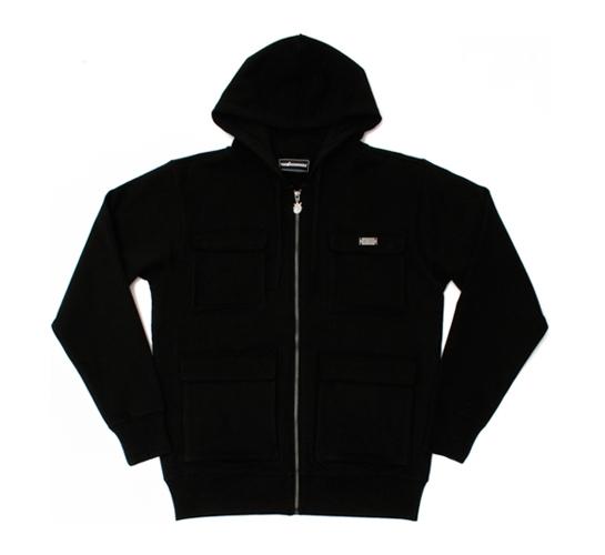 The Hundreds Men's Hoodie Zip Up - Kit (Black)