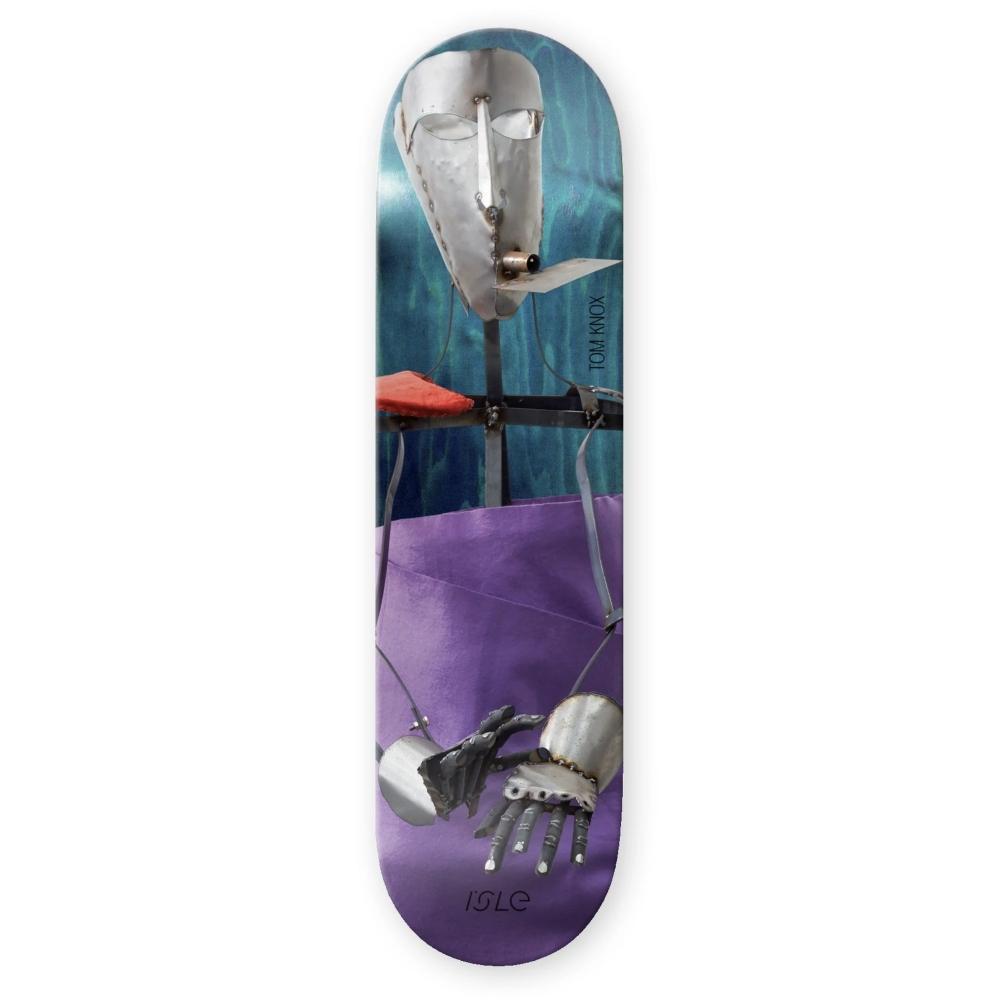 "Isle Skateboards Tom Knox Kira Freije Artist Series Skateboard Deck 8.375"""