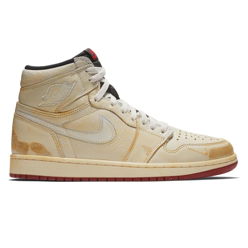 Jordan Brand Nike Air Jordan 1 High OG NRG 'Nigel Sylvester' (Sail/White-Varsity Red-Reflect Silver)
