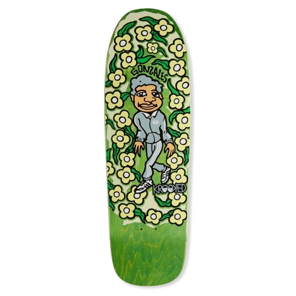 "Krooked Gonz Sweatpants Cruiser Skateboard Deck 9.81"" (Green)"