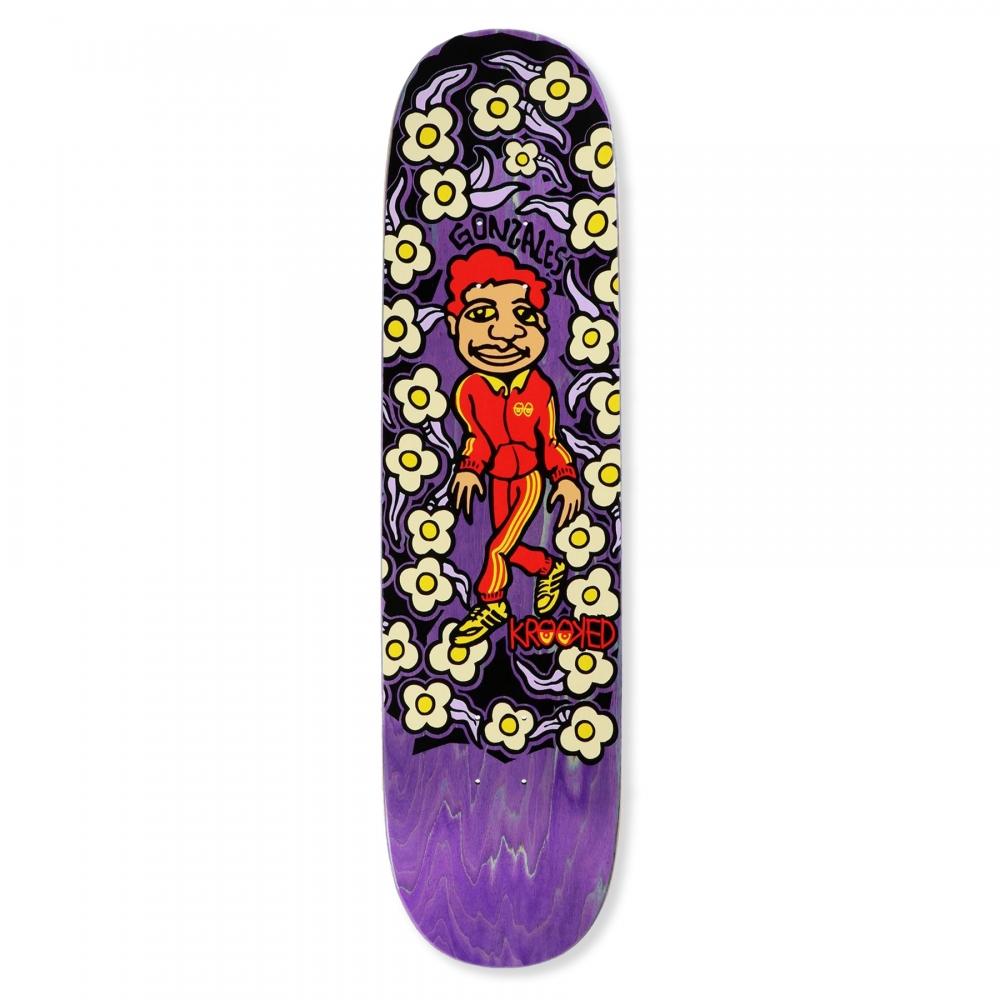 """Krooked Gonz Sweatpants Skateboard Deck 8.5"""" (Purple)"""