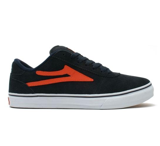 Lakai Skate Shoes - Manchester (Navy/Orange)