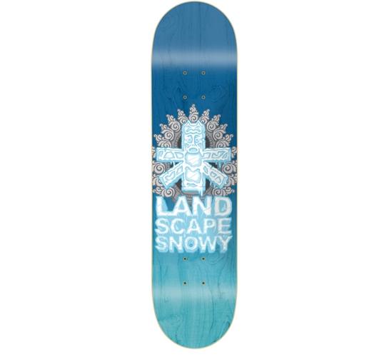 """Landscape Skateboard Deck - 7.75"""" Snowy (False Idols)"""