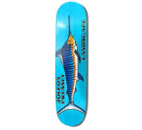 """Landscape Skateboard Deck - 8.1"""" Joey (Marlin)"""