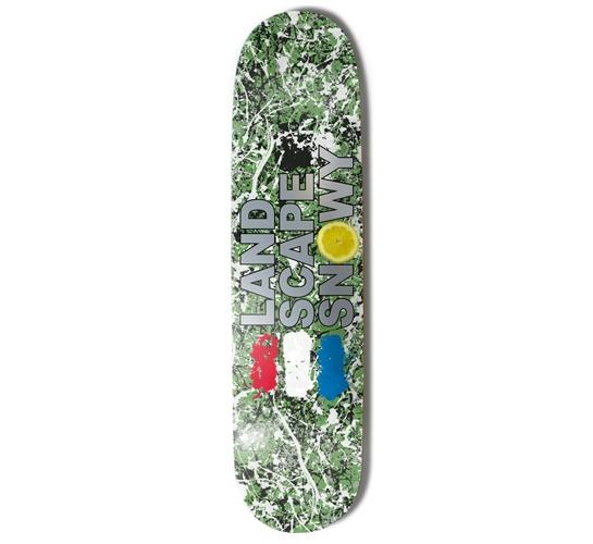 "Landscape Skateboard Deck - 8"" Snowy (Roses)"
