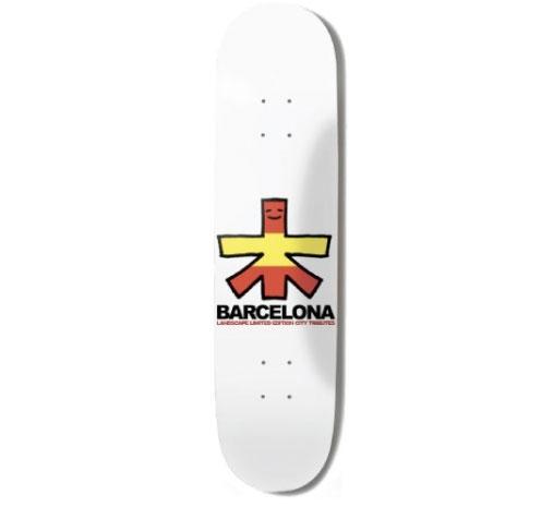 """Landscape Skateboard Deck - 7.75"""" Team (Barcelona)"""