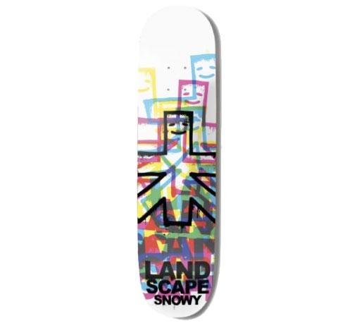"""Landscape Skateboard Deck - 7.5"""" Snowy (CMYK 2'S)"""
