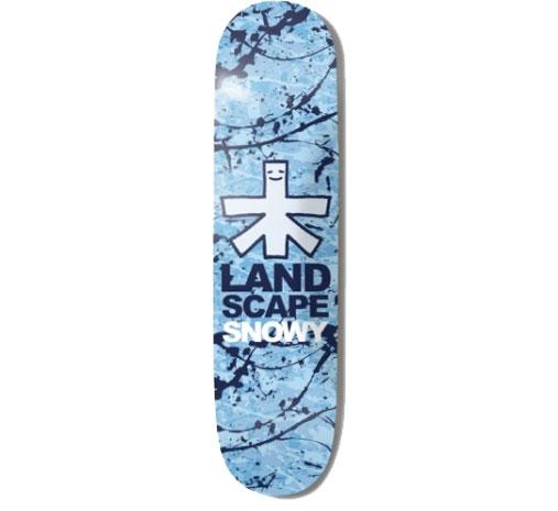 """Landscape Skateboard Deck - 8"""" Snowy (Splattered)"""